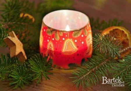 Karácsonyi süti illatú illatgyertya díszes pohárban