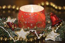 Karácsonyi dekoráció illatos gyertya merry christmas