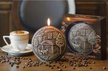 kávé illatú exkluzív díszgyertya