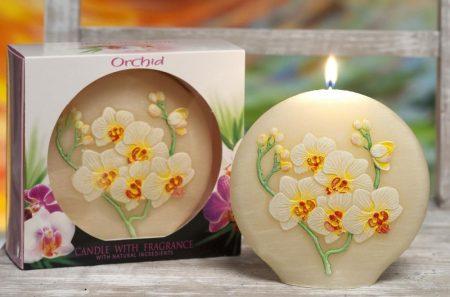 orchidea illatú exkluzív díszgyertya