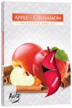 Almás Fahéjas légfrissítő illatmécses piros színű gyertya