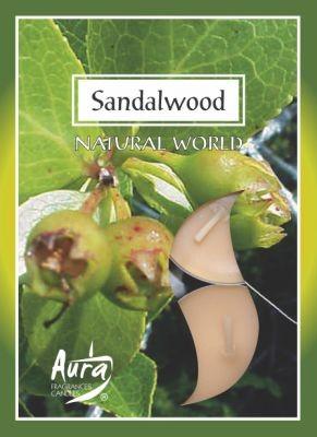 Szantálfa légfrissítő illatmécses sárga színű gyertya