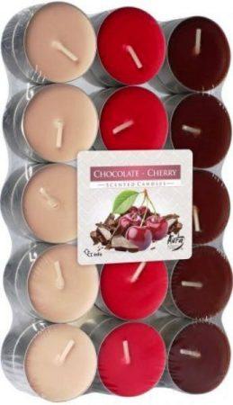 csokoládé és meggy színes illatmécses