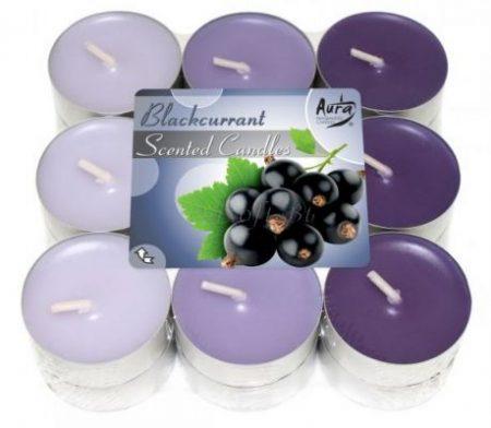 feketeribizlis illatgyertya lila színben