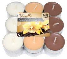 Vaníliás illatgyertya barna színben