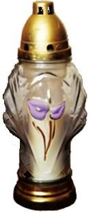Kegyeleti mécses virág motívummal 9db Z59