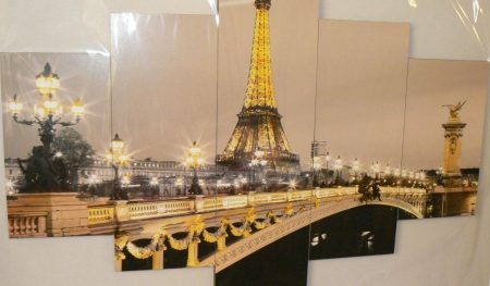 Éjszakai Eiffel Torony falikép