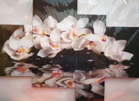 Több részes falikép Fehér Orchidea
