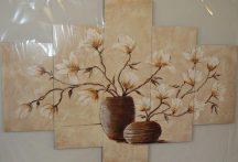 Többrészes falikép magnólia virágokkal