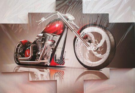 Több részes falikép motoros kép