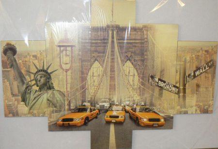 Több részes falikép New York