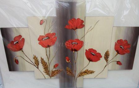 Piros pipacsok falikép