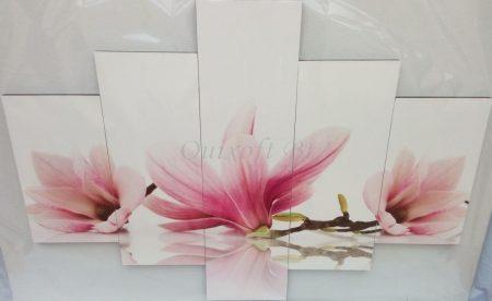 Rózsaszín orchidea négy részes kép falra