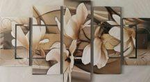 Vanília virág öt részes kép