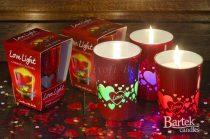 Többféle színben világító LEDes illatgyertyák