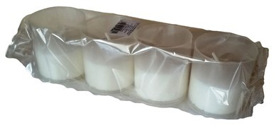 Cserélhető betét kegyeleti mécsesekbe P50 fehér színben