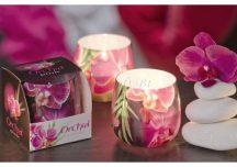 Díszes illatgyertya orchidea illattal