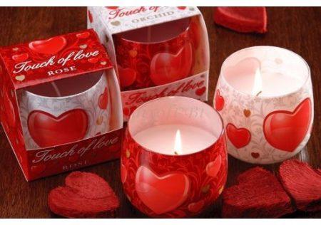 Valentin napi illatgyertya érzéki illattal
