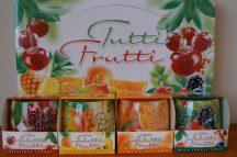 Ajándék díszdobozos illatgyertya gyümölcs illattal