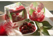 Erdei gyümölcsös illatú exkluzív üveg gyertya