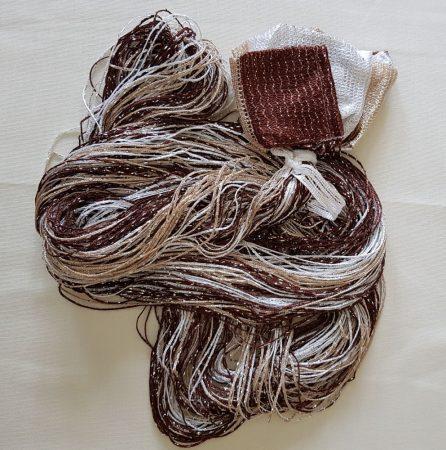 spagettifüggöny zsinór függönyök barna fehér színben