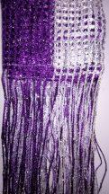spagettifüggönyök szalag függöny lila és fehér színben
