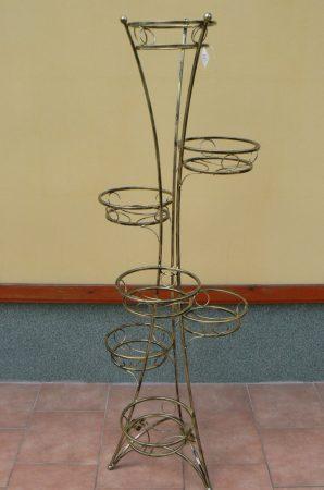 bronz réz hatású fém virágtartó hét férőhellyel