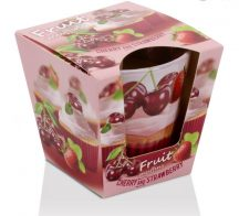 Fruits Muffins Cherry and Strawberry poharas illatgyertya 115g