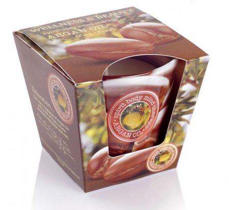 Wellness and Beauty Argan Oil poharas illatgyertya 115g