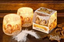 Karácsonyi angyal mintás illatgyertya