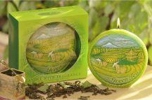 zöld tea illatú díszgyertya
