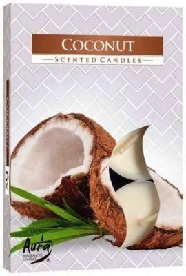 Kókuszos légfrissítő illatmécses fehér színű illatos gyertya