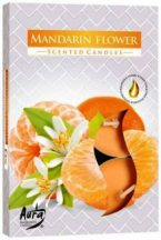 Mandarin légfrissítő illatmécses sárga színű illatos gyertya