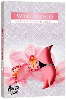 Orchidea illatú teamécsesek lila színű teamécses
