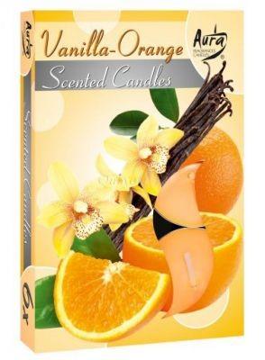 Vanília és Narancs illatú teamécses MOST CSAK 240Ft!
