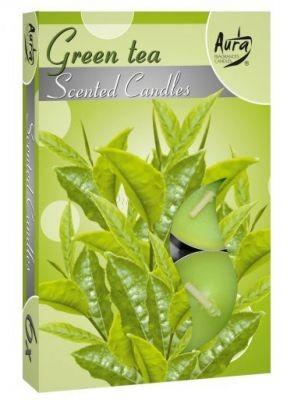 Zöld Tea illatú teamécses MOST CSAK 240Ft!