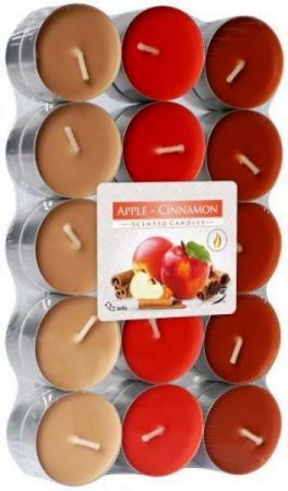 alma és fahéj színes illatmécses