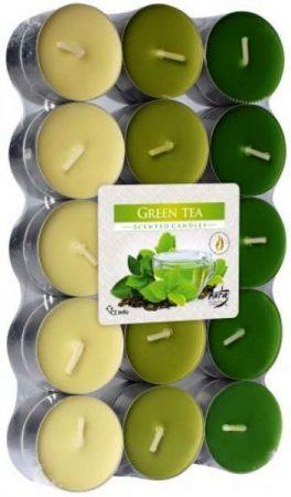 Zöld Tea illatos színes illatmécses