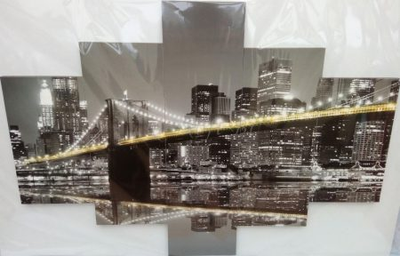 New York, Brooklyn híd éjszaka
