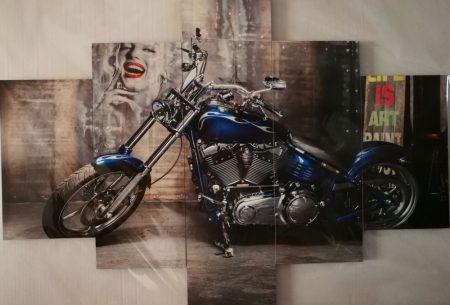 Több részes falikép kék chopper marilyn monroe