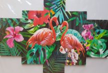 Több részes falikép - Flamingó 2