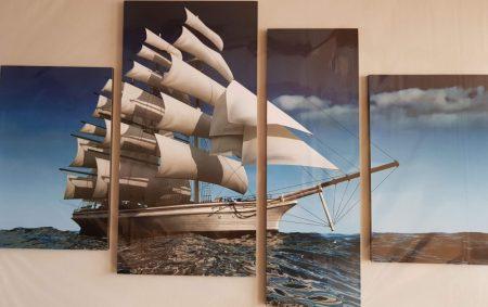 Tenger hajó négy részes kép