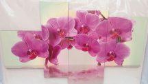 Lila orchidea négy részes kép