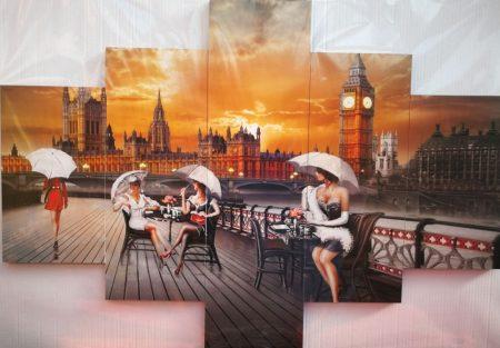 Londoni falikép esernyő látkép
