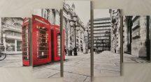 Londoni falikép piros telefonfülke
