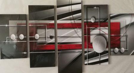Minimal stílus öt részes falikép