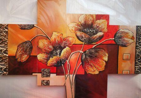 3d hatású virágos falikép