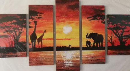Afrikai Safari öt részes kép