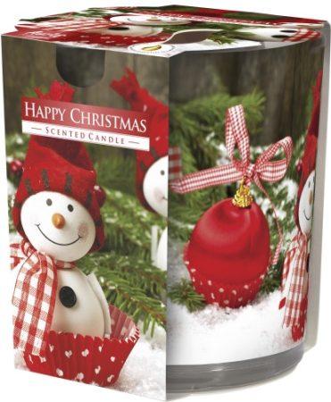Poharas illatgyertya Happy Christmas