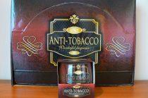 Különleges illatgyertya üvegpohárban anti tobacco ajándék díszdobozban